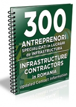 Lista cu principalii 300 antreprenori specializati in lucrari de infrastructura