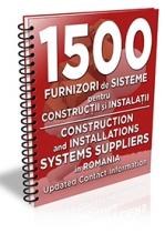 Lista cu principalii 1.500 furnizori de materiale pentru constructii/instalatii 2017