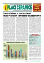 Analiza importurilor de placi ceramice si obiecte sanitare - 9 luni 2011