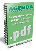 Analiza pietei de prefabricate din beton pe anul 2012
