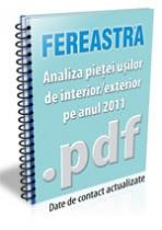 Analiza pietei usilor de interior/exterior pe anul 2011