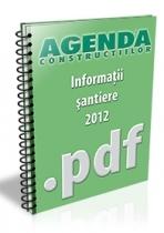 Informatii despre santiere, lucrari si investitii - octombrie 2012