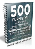 Lista cu principalii 500 furnizori de sisteme pentru tamplarie 2018