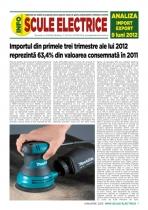 Analiza importurilor de scule electrice - 9 luni 2012