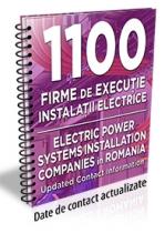 Lista cu 1100 de firme de executie si/sau proiectare de instalatii electrice 2019