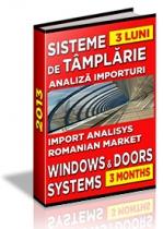 Analiza importuri sisteme de tamplarie si export de ferestre - trimestrul I 2013