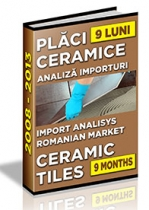 Analiza importurilor de placi ceramice si obiecte sanitare - 9 luni 2013
