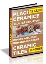 Analiza importurilor de placi ceramice si obiecte sanitare - 2015