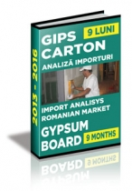 Analiza importurilor de placi si elemente din gips-carton - 9 luni 2016