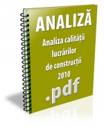 Analiza calitatii lucrarilor de constructii 2010