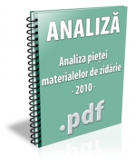Analiza pietei materialelor de zidarie 2010