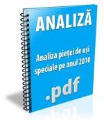 Analiza pietei de usi speciale pe anul 2010