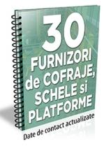 Lista cu principalii 30 de furnizori de cofraje, platforme si schele metalice