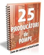 Lista cu principalii 26 de producatori de sisteme de pompare