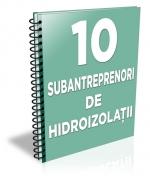 Lista cu principalii 14 subantreprenori de hidroizolatii